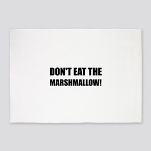 Do Not Eat Marshmallow Test 5'x7'Area Rug