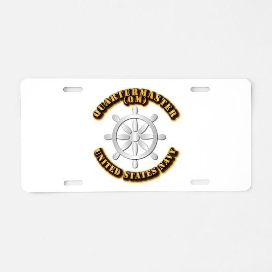 Navy - Rate - QM Aluminum License Plate