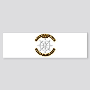 Navy - Rate - QM Sticker (Bumper)