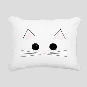 Kitty Face Rectangular Canvas Pillow