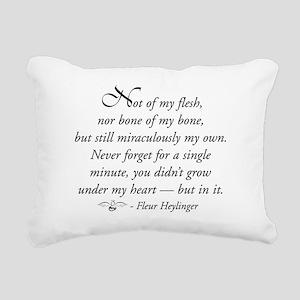Not of my flesh Rectangular Canvas Pillow