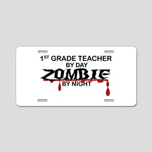 1st Grade Zombie Aluminum License Plate