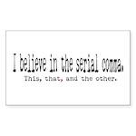 Serial Comma Bumper Sticker (Rectangle 50 pk)