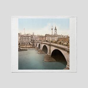 Vintage London Bridge Throw Blanket