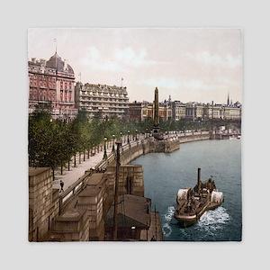 Vintage Thames River Queen Duvet
