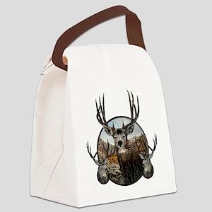 Mule deer oil painting Canvas Lunch Bag
