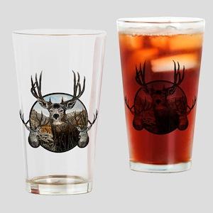 Mule deer oil painting Drinking Glass