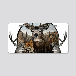 Mule deer oil painting Aluminum License Plate