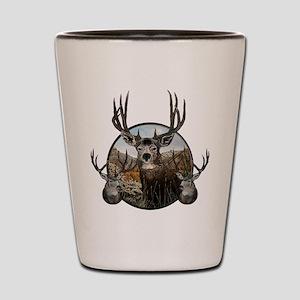 Mule deer oil painting Shot Glass