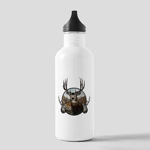Mule deer oil painting Stainless Water Bottle 1.0L