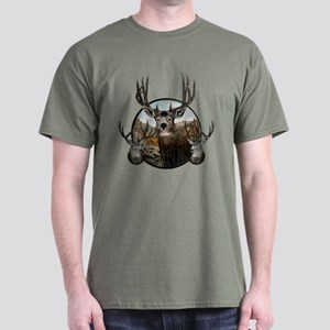 Mule deer oil painting Dark T-Shirt