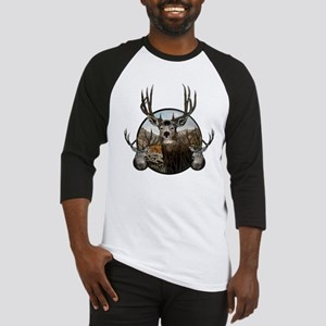 Mule deer oil painting Baseball Jersey