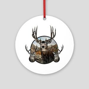 Mule deer oil painting Ornament (Round)