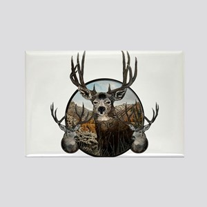 Mule deer oil painting Rectangle Magnet