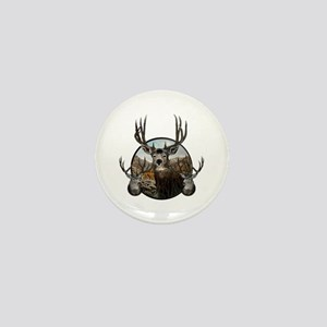 Mule deer oil painting Mini Button