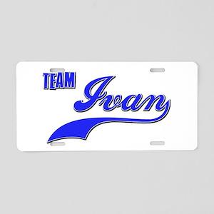 Team Ivan Aluminum License Plate