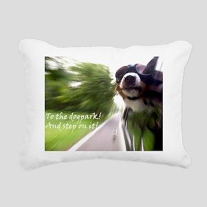 To the Dogpark! Rectangular Canvas Pillow