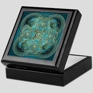 Teal Celtic Tapestry Keepsake Box