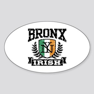 Bronx NY Irish Sticker (Oval)