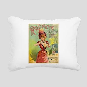 Absinthe Rosinette Rectangular Canvas Pillow