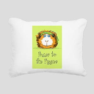 Power to the Piggies Rectangular Canvas Pillow