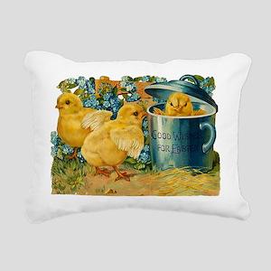 Vintage Easter Chicks Rectangular Canvas Pillow