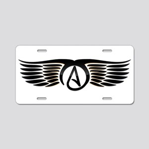 Atheist Wings Aluminum License Plate