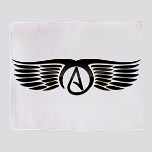 Atheist Wings Throw Blanket