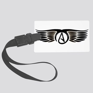 Atheist Wings Large Luggage Tag