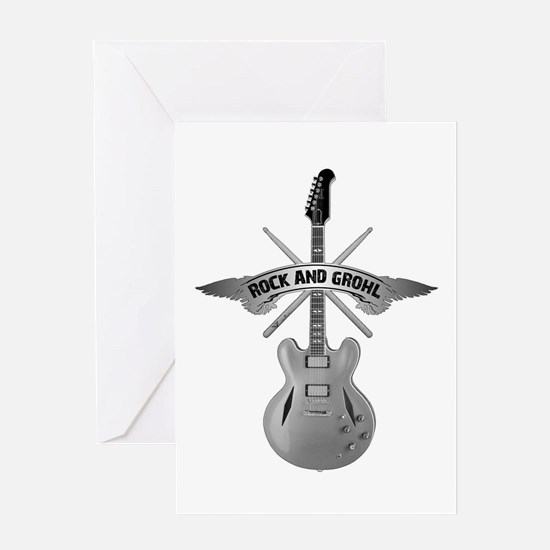 ROCK AND GROHL Greeting Card