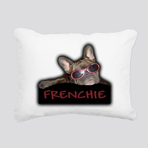 Frenchie Logo Rectangular Canvas Pillow