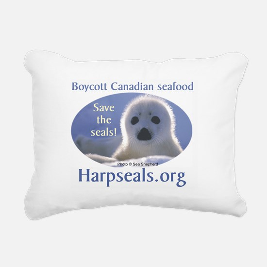 Save the Seals! Rectangular Canvas Pillow
