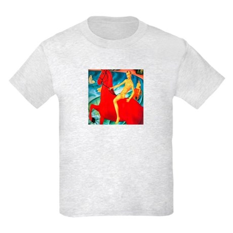 BATHING THE RED HORSE Kids T-Shirt