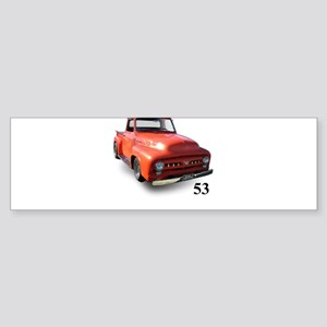 orange truck-no logo Sticker (Bumper)