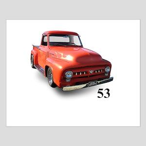 orange truck-no logo Small Poster