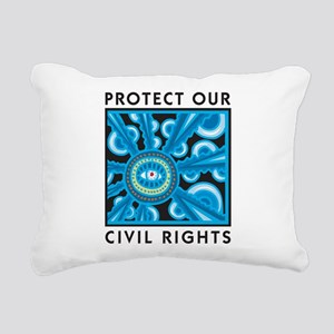 Protect Our Civil Rights Rectangular Canvas Pillow