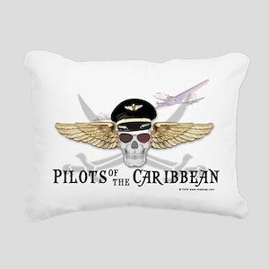 Pilots of the Caribbean Rectangular Canvas Pillow