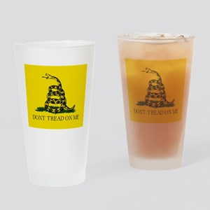 Gadsden Flag Drinking Glass