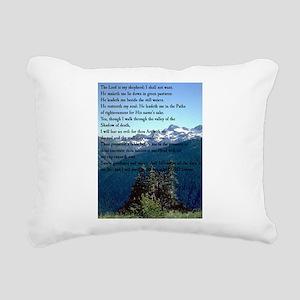 Psalm 23 Rectangular Canvas Pillow
