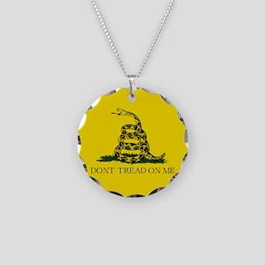 Gadsden Flag Necklace Circle Charm