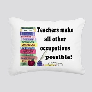 """Teacher Occupations"" Rectangular Canvas Pillow"