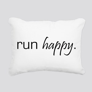 Run Happy Rectangular Canvas Pillow