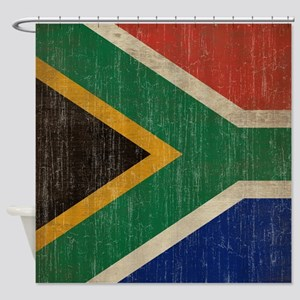 Vintage South Africa Flag Shower Curtain