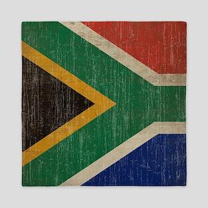 Vintage South Africa Flag Queen Duvet