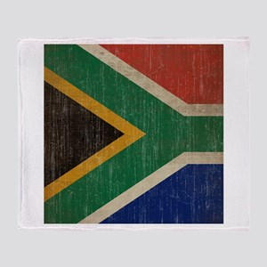 Vintage South Africa Flag Throw Blanket