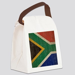 Vintage South Africa Flag Canvas Lunch Bag