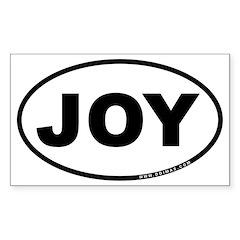 Joy Oval Sticker (Rectangle 50 pk)