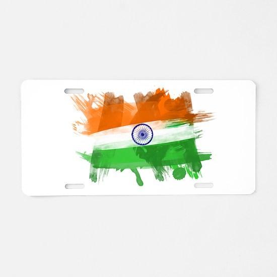 India Flag Aluminum License Plate