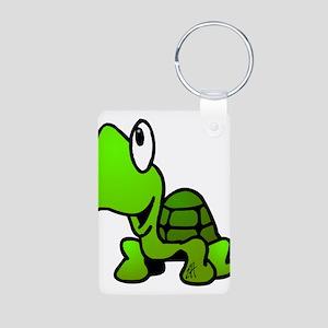 Turtle Aluminum Photo Keychain