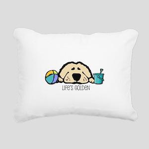 Life's Golden Beach Rectangular Canvas Pillow